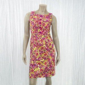 LONDON TIMES Multicolor Floral Sleeveless Dress 4